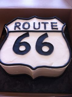 1000 images about route 66 cake on pinterest route 66 phillips 66 and license plate art. Black Bedroom Furniture Sets. Home Design Ideas