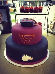 Virginia Tech Freedom Eagles high school graduation cake