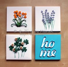 quilling by Manuk - These are 4 separate canvases but I think they will make nice deco by hanging all 4 up on the wall!