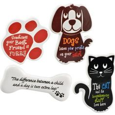 Set of 4 Refrigerator Magnets Cat  Dog Theme by Unknown ** You can get more details by clicking on the image.Note:It is affiliate link to Amazon.