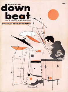 down beat magazine   March 31,1961 Illustration by David Stone Martin