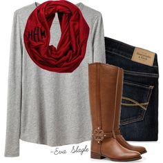 """""""Monogram and boots"""" by evaslagle on Polyvore"""