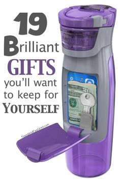 DIY your Christmas gifts this year with 925 sterling silver photo charms from GLAMULET. they are 100% compatible with Pandora bracelets. Some really unique and useful gift ideas - Like this Purple Sipper Bottle with a cash / ID compartment! www.buzzfeed.com/...
