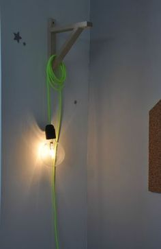 baladeuse et fil fluo