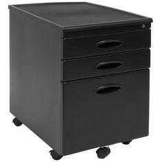 Lovely Lorell 14341 18 Deep 2 Drawer File Cabinet Black