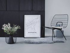 Map poster of Wuppertal, Germany. Print size 50 x 70 cm available at Mapiful.com
