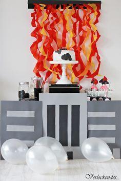 firetruck / fireman party - sweet table #fireman #firefighter #party