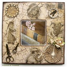 Handmade Home Decor Decoupage Vintage, Decoupage Art, Vintage Shabby Chic, Wooden Crafts, Handmade Home Decor, Hobbies And Crafts, Scrapbooking, Picture Frames, Ikea
