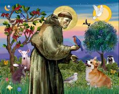 St Francis of Assisi, the patron saint of animals
