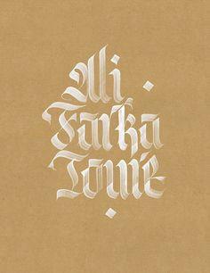 Ali Farka Touré . Typography Inspiration . Gothic Lettering