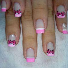 Cvf Girls Nail Designs, Pedicure Designs, Nail Art Designs, Nails Design, Little Girl Nails, Girls Nails, Love Nails, Fun Nails, Mickey Mouse Nail Art