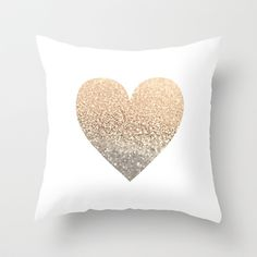 Buy GOLD HEART by Monika Strigel as a high quality Throw Pillow. Worldwide shipping available at Society6.com. Just one of millions of products available.