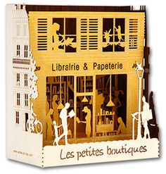Editeur et fabricant de cartes en découpe laser sur Paris, création de cartes pop-up pour boutiques