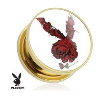 6 mm screw fit plug Playboy rozen gold plated verkrijgbaar in diverse maten