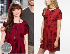Shop Your Tv: Remember Sunday? Molly's Red Flower Print Dress