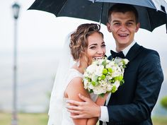 Kein Grund zum Weinen, die Hochzeit kann auch bei Regen schön sein