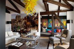 La Casa del Tempo by Claudia Pelizzari  I'd like some Oversized, Bright Art Work in my next Great Room Re-do...