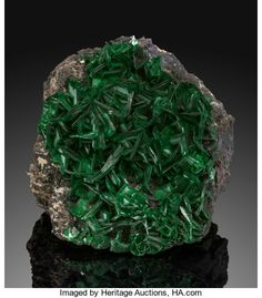 Torbernite Katanga (Shaba) Democratic Republic of the Congo It is hard to be unimpressed with this - Available at 2018 May 5 - 6 Nature & Science. Minerals And Gemstones, Crystals Minerals, Rocks And Minerals, Stones And Crystals, Opal Australia, Rock Decor, Calcite Crystal, Mineral Stone, Rocks And Gems