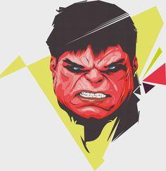 #Red #Hulk #Fan #Art. (Red Hulk Portrait) By: Gendoskhan. ÅWESOMENESS!!!™ ÅÅÅ+