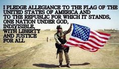 I pledge allegiance to the flag of the United States of America Military Quotes, Military Life, Army Life, I Love America, God Bless America, Gi Joe, I Pledge Allegiance, Support Our Troops, Intp
