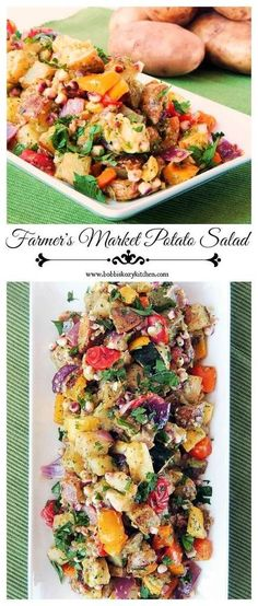 Farmer's Market Potato Salad - This is not your typical potato salad! Full of roasted veggie goodness, it is the perfect dish for those farm stand finds. #SundaySupper From http://www.bobbiskozykitchen.com