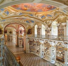 Libraries at the Benedictine Monastery of Admont, Austria
