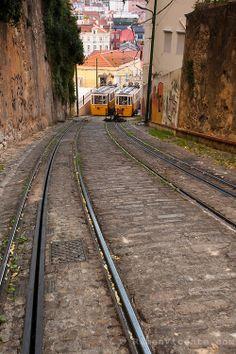 Lavra tram. Lisbon, Portugal
