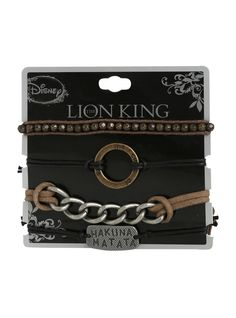 Disney The Lion King Hakuna Matata Cord Bracelet 4 Pack | Hot Topic