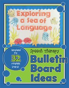 Bulletin Board Ideas for SLPs (with templates!)