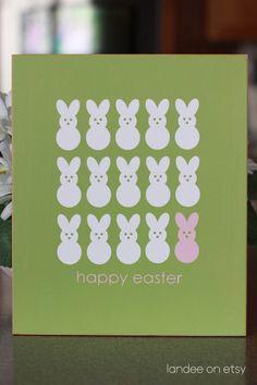 Easter Peeps wood sign