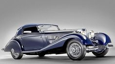 """""""beautiful two tone blue convetible two door 1937 Mercedes-Benz 540K.""""  If they still made cars like this I'd like cars."""