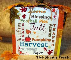 Tutorial: Fall Subway Art Pumpkin
