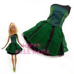 Darmowa wysyłka jeden szt doll dress księżniczka suknia casual handmade spódnica dla barbie lalka boże narodzenie prezent dla dzieci zabawki