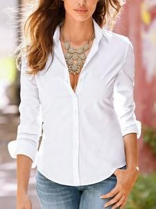 92d6e9137f4 Vintage White Casual Long Sleeve Women Blouses Summer New Fashion Elegant  Sexy Ladies Office Shirts Tops