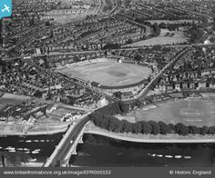 Britain From Above - uploaded by Rachel. Old Photos, Vintage Photos, Nottingham City, History Photos, Cricket, Places To See, Britain, Derby, City Photo