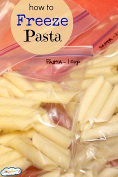 Learning how to freeze pasta can make your dinner life a whole lot easier!