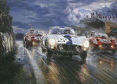 Belgian Brio, Le Mans 1960 art print by Alfredo De la Maria