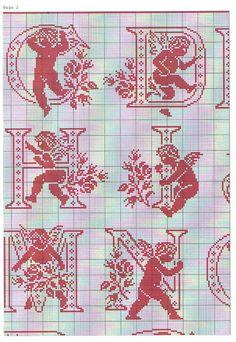 Alphabet Quilt, Alphabet Cards, Cross Stitch Alphabet, Cross Stitch Samplers, Cross Stitching, Bead Loom Patterns, Cross Stitch Patterns, Crochet Patterns, Crochet Cross