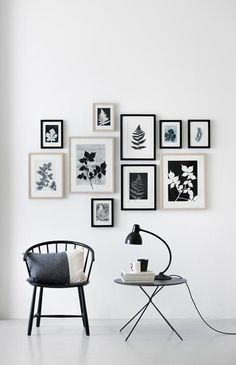 wall decor gallery art / decorar con fotos y cuadros Inspiration Wand, Layout Inspiration, Interior Inspiration, Interior Ideas, Living Room Decor, Bedroom Decor, Home And Deco, Frames On Wall, White Frames
