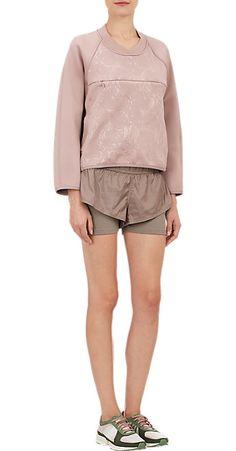 adidas x Stella McCartney Floral-Embossed Neoprene Sweatshirt - Tees & Knits - Barneys.com