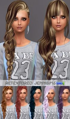 Jenni Sims: Elasims Hairs Converted • Sims 4 Downloads