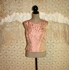 Dressy Top Plus Size 16 Beaded Cocktail Blouse by MagpieandOtis