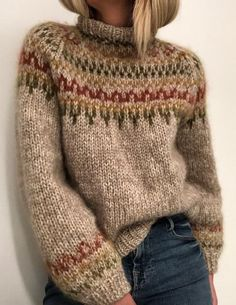 Ravelry 289497082299086332 - Ravelry: Skaanevik sweater pattern by Siv Kristin Olsen Source by gr_bye Icelandic Sweaters, Knitting Kits, Knitting Machine, Beginner Knitting, Knitting Stitches, Vintage Sweaters, Mode Inspiration, Fashion Inspiration, Types Of Sleeves