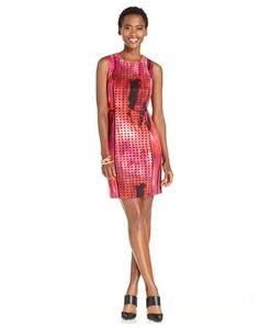 e6b8313a78f5 Spense - 14665 Multi-Colored Jewel Sheath Dress