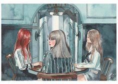 "Fan art of BLΛƆKPIИK (블랙핑크) from their music video, ""Whistle (휘파람)"". 