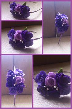 felt rosette headband