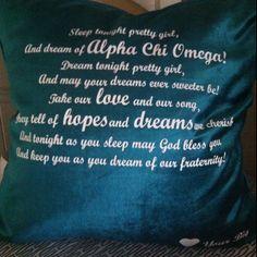 Dream Cake Song Pillow! - Alpha Chi Omega
