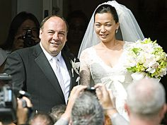 The Sopranos star James Gandolfini wed his girlfriend, former model Deborah Lin, on August 30, 2008, in her hometown of Honolulu, Hawaii. The bride wore a white Italian lace gown.