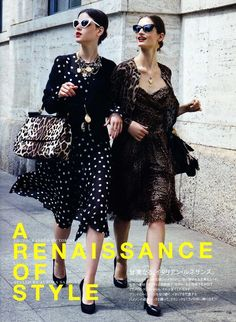 A Renaissance of Style photographed by Tommy Ton