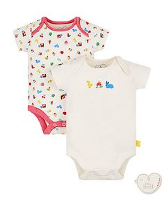 56166bee38 little bird by Jools summer bodysuits - 2 pack